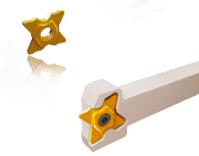 4个切削刃新型槽刀片,拥有独特的断屑槽,用于开槽、切断及凹槽加工